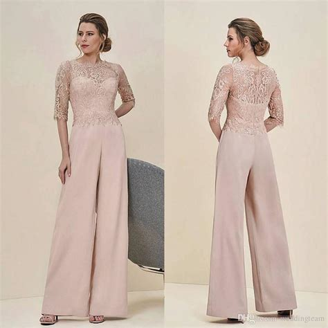 braut overall cheap jumpsuits lace mother of the bride pant suits bateau
