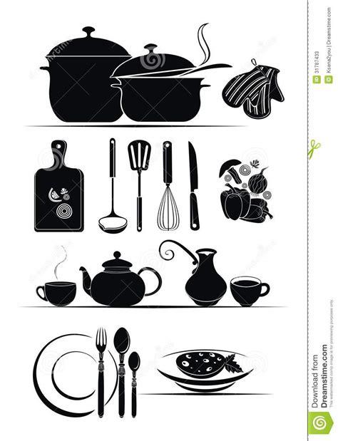 imagenes vectores cocina fondo del vector utensilios de la cocina fotos de