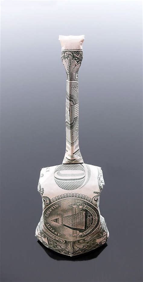 Origami Guitar Dollar Bill - dollar bill origami cello by craigfoldsfives deviantart