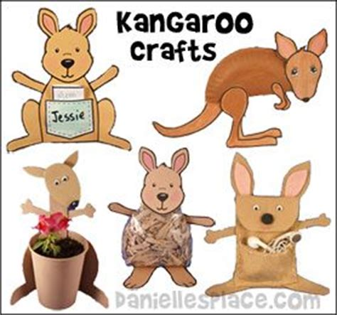Kangaroo Paper Plate Craft - the world s catalog of ideas