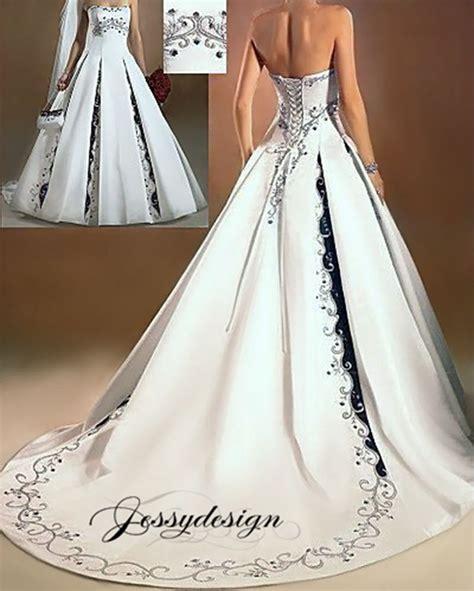 Brautkleider Zweifarbig by Zweifarbig Brautkleid Hochzeitskleid Schwarz Stickerei