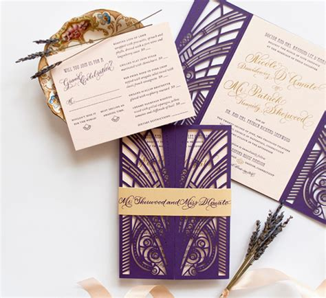 Wedding Invitations Gatsby by Gatsby Style Wedding Invitation Templates Wedding