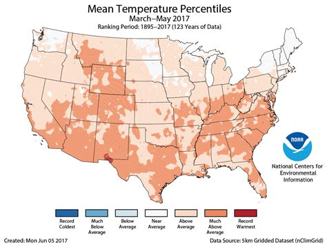 us average temperature map march assessing the u s climate in may 2017 national centers