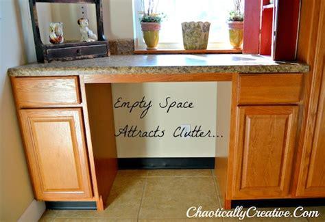 Country Kitchen Decorating Ideas Photos kitchen desk storage area chaotically creative