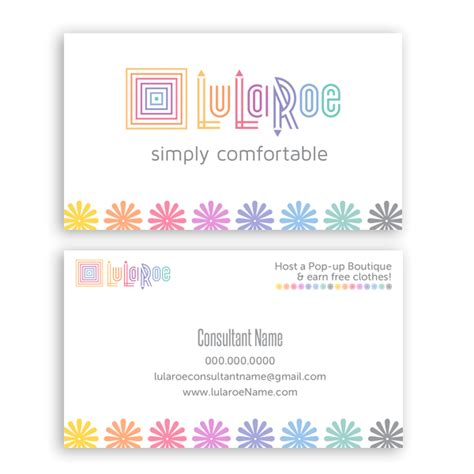 Lularoe Business Card Template my account itw visions