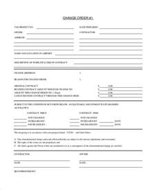 change order template 23 free excel pdf document