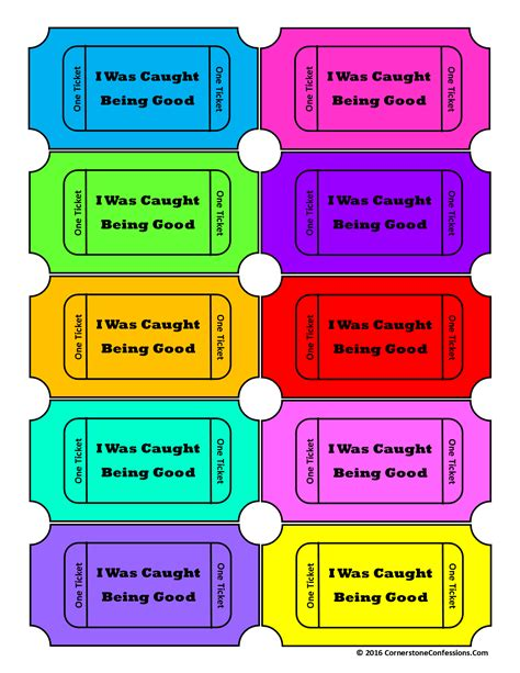 printable tickets for good behavior encourage your child s positive behavior with this free