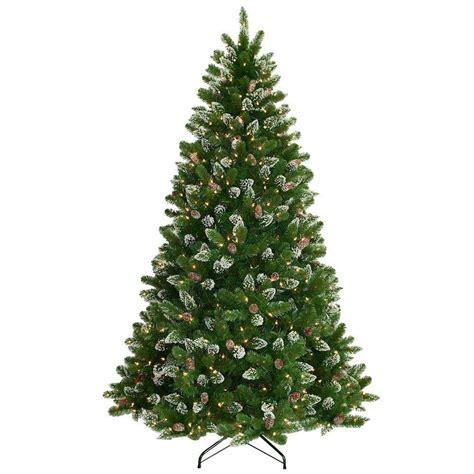 national tree company 7 5 ft crystal spruce hinged