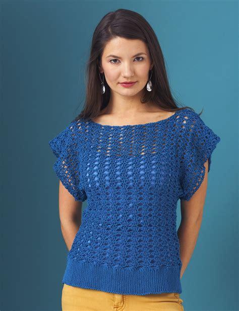 top knitting patterns patons openwork top crochet pattern yarnspirations