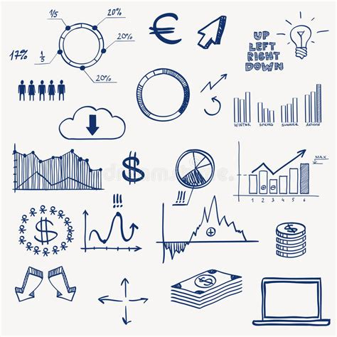 doodle element guide business finance management infographics social stock