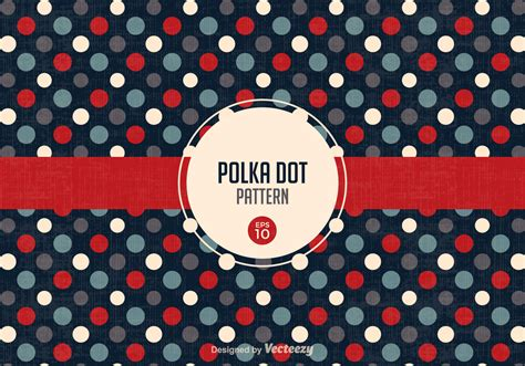 polka dot pattern eps free free retro polka dot pattern vector download free vector