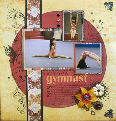 gymnastics scrapbook layout the story of a gymnast scrapbook com scrapbook layouts