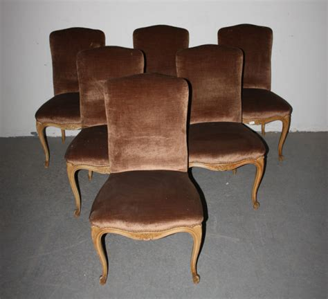 Vintage Dining Chairs For Sale 6 Louis Xv Upholstered Painted Dining Chairs For Sale Antiques Classifieds