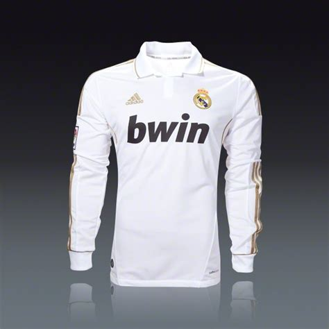 Polo Shirt Bwin adidas real madrid sleeve home jersey 11 12