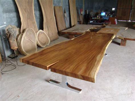 Seat Meja Makan Suar Nakasrakmejakursisofalemari live edge dining table reclaimed solid slab acacia wood 10