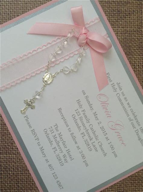 Christening Invitations Handmade - 25 best ideas about communion invitations on