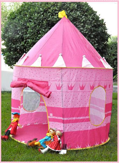 play tent house children portable pop up play tent princess prince