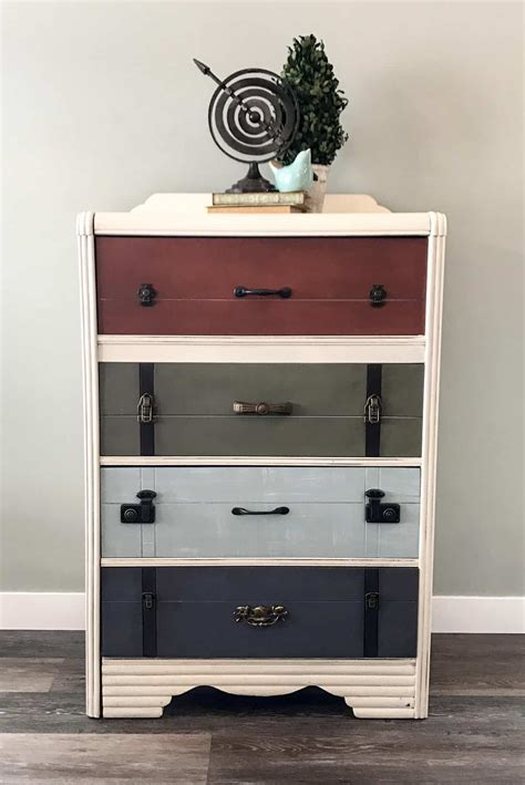 suitcase dresser the suitcase dresser guest post country chic paint blog
