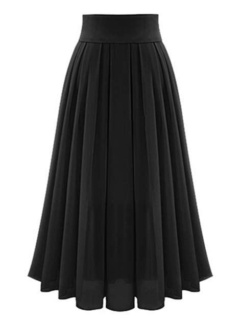 black high waist overlay chiffon skirt choies