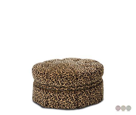 round leopard ottoman toledo round leopard print nailhead ottoman in black and gold