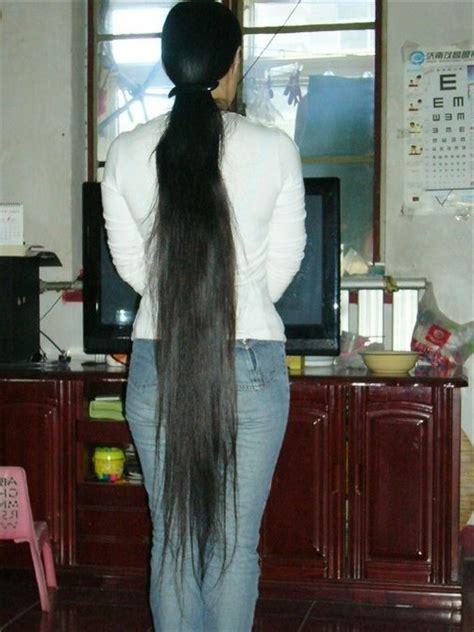calf length long hair    hairstyles