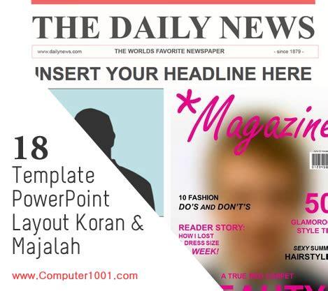 bentuk layout koran 18 template powerpoint dengan layout koran dan majalah