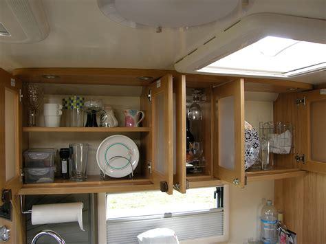 Glass Kitchen Storage Canisters plate and mug racks coachman caravans caravan talk