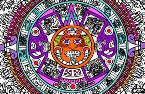 aztec colors free coloring pages of aztec sunstone