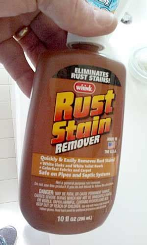Do you have rust stains in your sink, tub and toilets