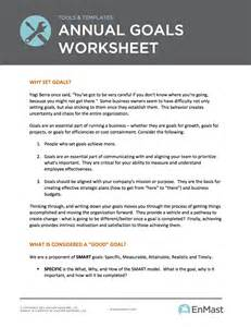 Goal Setting Template For Work by Annual Goal Setting Worksheet For Business