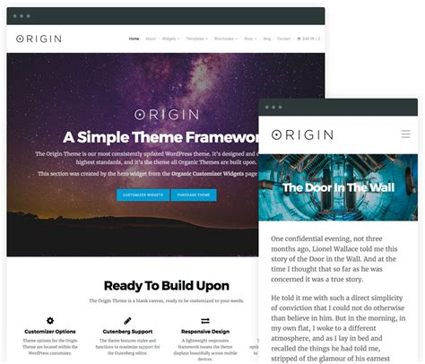 theme wordpress origin wordpress starter theme origin is where great themes begin