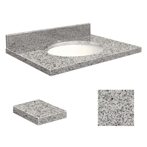 Transolid Vanity Tops shop transolid rosselin white granite undermount single
