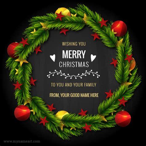 wishing  merry christmas      family