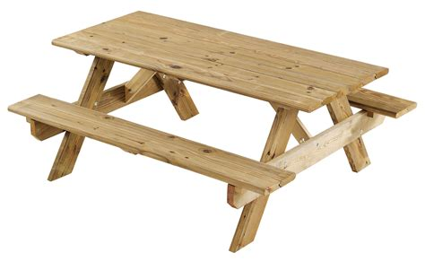 Bench To Picnic Table by Wooden Picnic Table