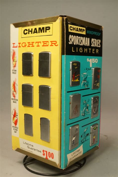 21 Lighters On Dresser by Ch Vintage Lighter Store Display 24 Actual Li
