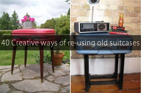 Kitchen Cabinet End Shelf 40 Creative Ways Of Re Using Old Suitcases