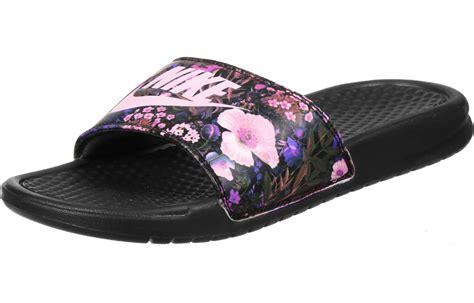 nike slippers nike benassi jdi print w bath slippers black pink