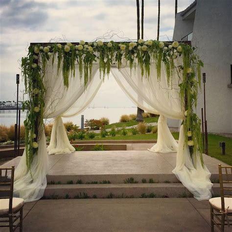 wedding arch flowers mentoring high school students