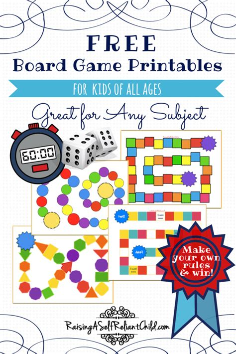 Free Board Games Printable Templates Homeschool Board Template Free