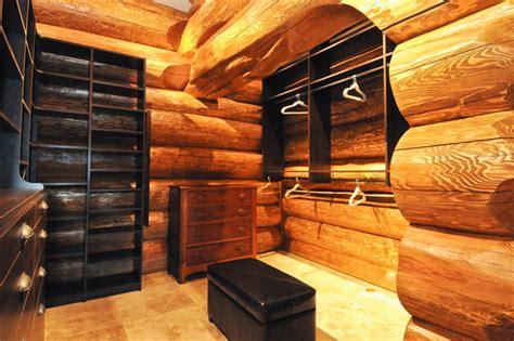 Western Closet by Western Cedar Ranch Style Log Home Closet Denver