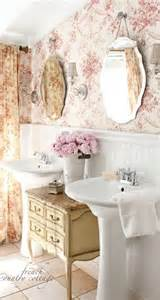 Small bathroom makeovers with wainscoting and wallpaper and vintage