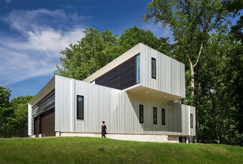 Bridgehouse Garage by Beautifully Designed Bridge House In Mclean Virginia Usa