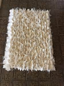 ivory shabby chic rag rug ivory tule white cotton natural burlap 2x3 rugs welcome mat