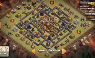 Origin of th10 clan wars base in clash of clans gamatrix