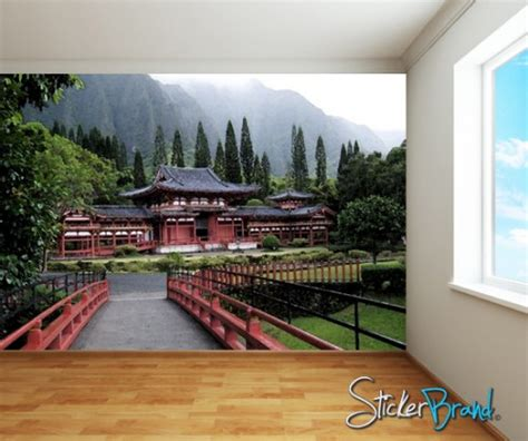 japanese wall murals wall mural decal sticker japanese byodu in temple