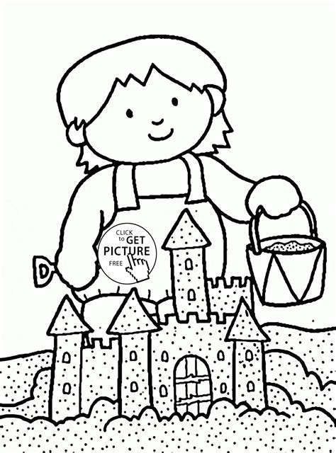 free coloring pages sand castle beautiful sand castle coloring page for kids summer