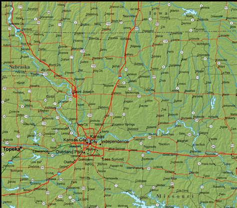 missouri map detailed map of missouri and the surrounding region