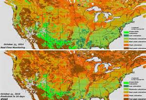 fall color map catching fall foliage colors across america