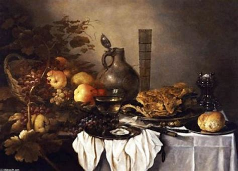 banquet still life oil on panel by roelof koets 1592