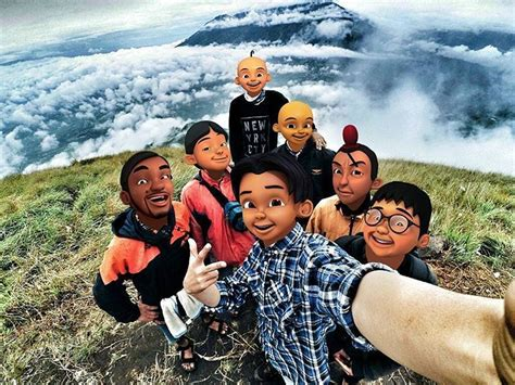 film upin ipin kung durian runtuh cek 25 editan muka tokoh kartun yang lagi tren ini pada